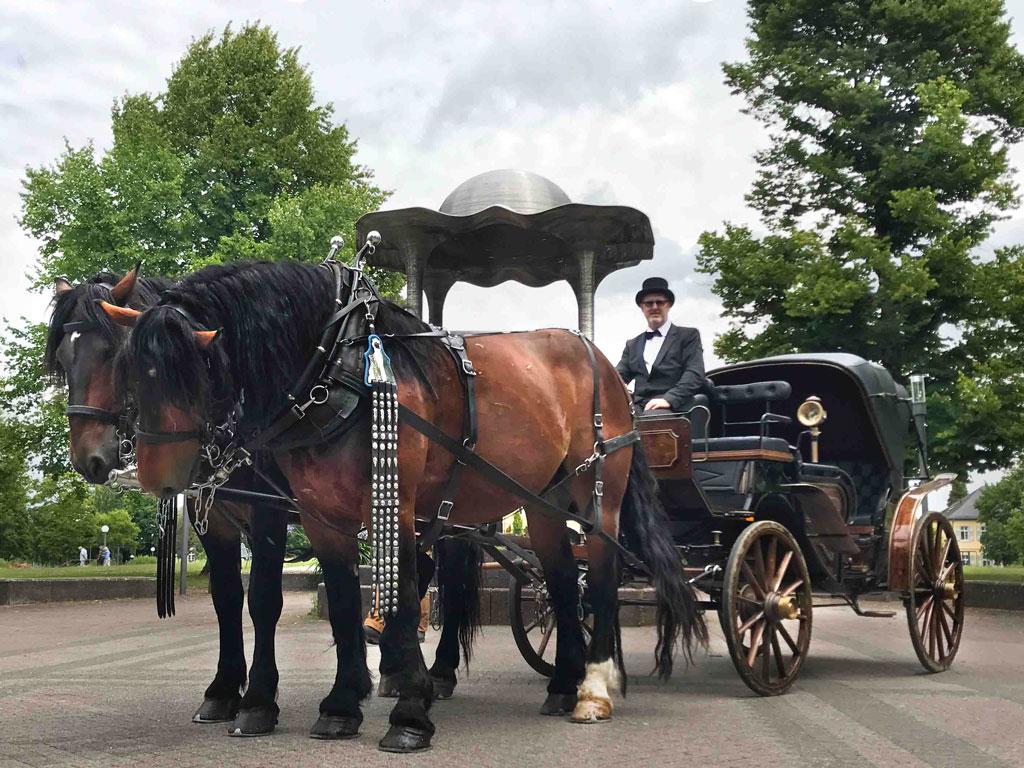 Braune-VisaVis-Hochzeitskutsche
