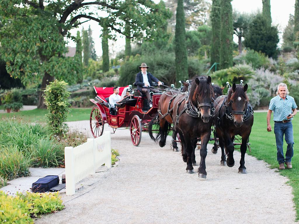 Rote-Hochzeitskutsche
